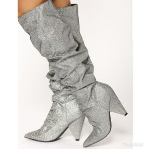 Fashion Nova pewter boots